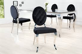 casa padrino designer dining chair black silver without armrest designer chair