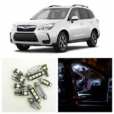 10pcs white car led light bulbs interior package kit for 2009 2014