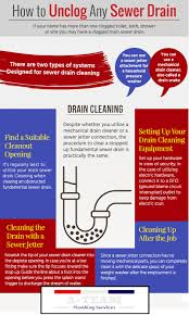 Clogged Toilet Drain Home Remedy by How To Unclog Any Sewer Drain U2013 Infographic If Your Home Has More