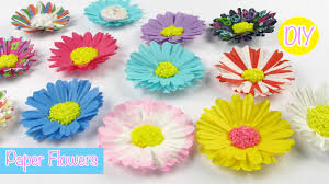 DIY Paper Craft Flowers Easy Room Decor Party