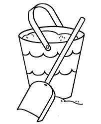Pages Printable Beach Sand Bucket Kindergartner Coloring Page
