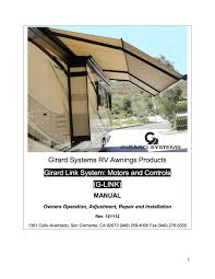 G-Link Manual – Girard RV Awnings - Girard Systems How To Operate An Awning On Your Trailer Or Rv Youtube To Work A Manual Awning Dometic Sunchaser Awnings Patio Camping World Hi Rv Electric Operation All I Have The Cafree Sunsetter Commercial Prices Cover Lawrahetcom Quick Tips Solera With Hdware Lippert Components Inc Operate Your Howto Travel Trailer Motor Home Carter And Parts An Works Demstration More Of Colorado