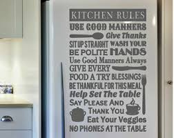 Kitchen Rules Sign Decor Wall Decal Art