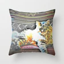 Cat In A Rocking Chair Throw Pillow
