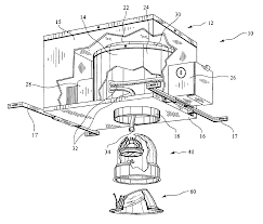 patent us6632006 recessed wall wash light fixture patents