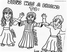 Jesus Lazarus Mary And Martha Coloring Page On