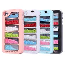 New Bling Rainbow Element Crystal Phone Cover Case For IPhone 4 4s