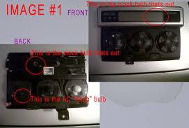replacing bulbs in radio dash ac controls pics included toyota