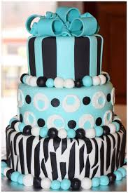 Carlys Cakes with blue black and white polka Gallery Picture