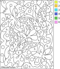 Free Coloring Pages COLOR BY NUMBER