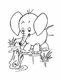 Download Free Printable Baby Elephant Coloring Pages To Color Online For Kids
