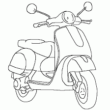 Scooter Coloring Pages