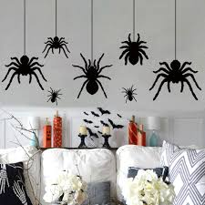 Ivenf Halloween Decorations Extra Large Scary Spider Wall Decal Window Decor Party Supplies 2 Sheet 51pcs