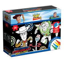 Rompecabezas Aterciopelado Para Colorear Toy Story 4 Novelty