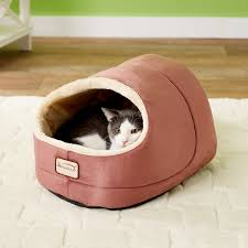 Armarkat Cat Bed armarkat pet bed cave shape red beige chewy com