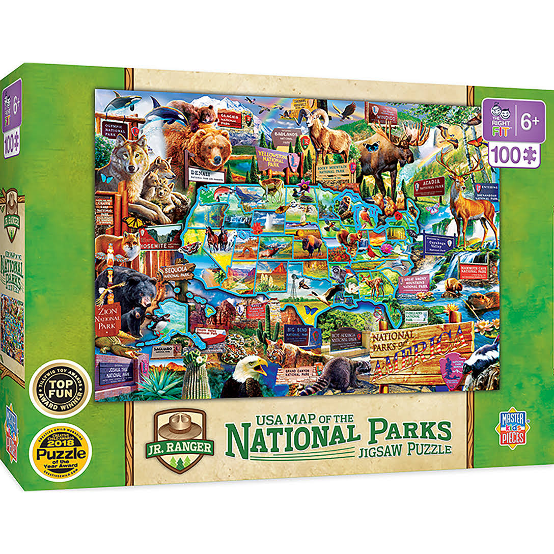 National Parks - Map 100 Piece Kids Puzzle