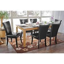 2x esszimmerstuhl chesterfield stuhl küchenstuhl nieten kunstleder schwarz dunkle beine