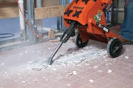 contractor uses general equipment cts12 for tile removal project