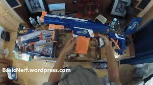 the basic nerf n strike elite retaliator unboxing small firing