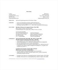 Computer Science Graduate Internship Resume Sample Objective For Intern Career Student Latex Free Download