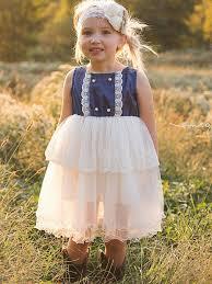 denim u0026 lace flower dress u2013 country couture company