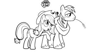 My Little Pony Coloring Pages Fluttershy Mlp Applejack