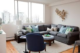 Grey Sectional Sofas Living Room Eclectic With Blue And Green Branch Art Gray Sofa Light