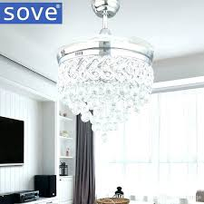 Decorative Ceiling Fans For Dining Room Fan Led Stealth Light Simple Folding