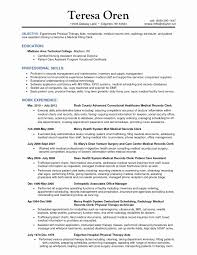 Medical Records And Health Information Technician Resume Luxury Samples For Assistant Without Experience New