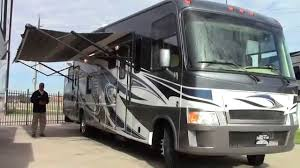 Preowned 2012 Thor Outlaw 3611 Class A Gas Toy Hauler Motorhome RV Holiday World Of Houston In Katy