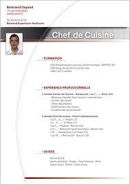 recherche chef de cuisine résultat de recherche d images pour exemple de cv chef de cuisine