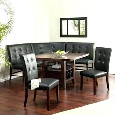 Contemporary Breakfast Nook Set Modern Formal Dining Room Sets Corner Bench Seating White For 8