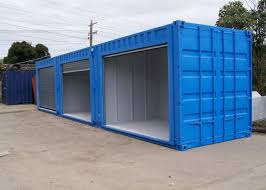 Steel Modified Shipping Containers Rust Proof Temporary Storage