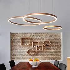 3 rings modern led pendant lights suspension lighting for