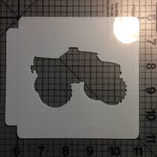 100 Monster Truck Cookie Cutter Stencil 100