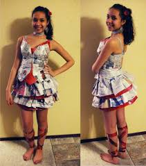 Newspaper Craft Ideas Dress