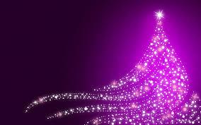 Xmas Tree Christmas Lights Purple