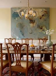 Contemporary Abstract Art Prints Dining Room Traditional With Wall On