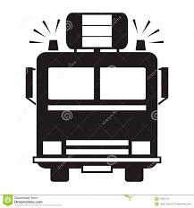 Fire Truck, Black Silhouette Stock Vector - Illustration Of Pipe ...