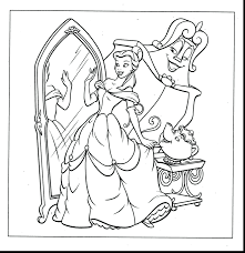 Printable Disney Princess Christmas Coloring Pages Free Pictures Color Sheets Belle Full Size