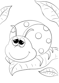 Click To See Printable Version Of Cute Cartoon Ladybug Coloring Page