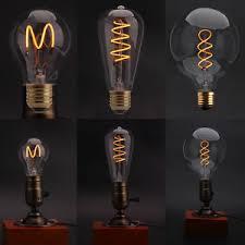 dimmable edison glass led bulb vintage industrial retro light l