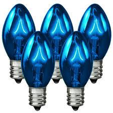 25 pack transparent blue c7 light bulbs 5 watt