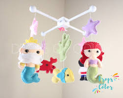 Little Mermaid Crib Bedding by Baby Mobile Baby Crib Mobile Little Mermaid Mobile Nursery