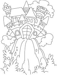 Fairy Castle Coloring Pages