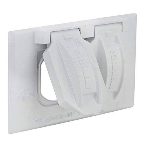 Bell Weatherproof Aluminum 1 Gang Duplex Receptacle Cover - White