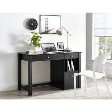 Black Writing Desk With Hutch by Walker Edison Furniture Company Home Office Deluxe Black Wood