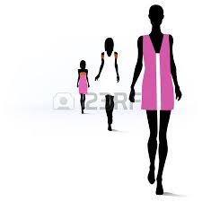 12157 Fashion Show Cliparts Stock Vect