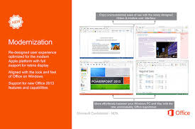 Leaked fice for Mac 2015 screenshots look just like the Windows