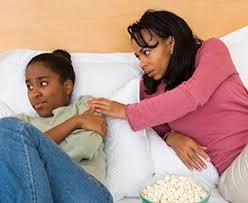 Mom Talking To Upset Teen